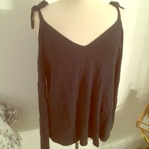 LOFT Green Cold Shoulder Sweater NWT XL